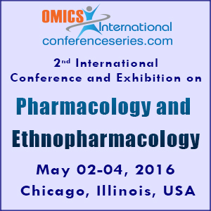 2nd International Conference and Exhibition on Pharmacology & Ethnopharmacology on May 02-04, 2016 at Chicago, USA