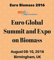 Euro Biomass 2016, Euro Global Summit and Expo on Biomass held during 2016 August 08-10, at Birmingham, UK