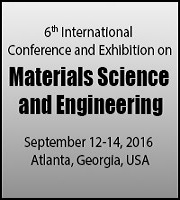 6th International Conference and Exhibition on Materials Science and Engineering during September 12-14, 2016 at Atlanta, USA