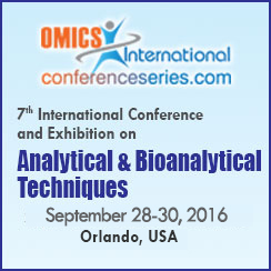 International Conference and Exhibition on Analytical and Bioanalytical Techniques 2016, September 28 - 30 2016, Orlando US