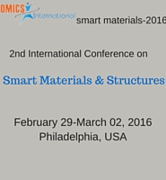 2nd International Conference on Smart Materials & Structures during 2016 Feb 29-March 02 at Philadelphia, USA